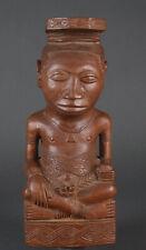 Detailed Congo Kuba Male King figure with Old Label