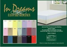 "6ft 6"" (200cm x 200cm) fitted sheets easycare polycotton 21 colours"