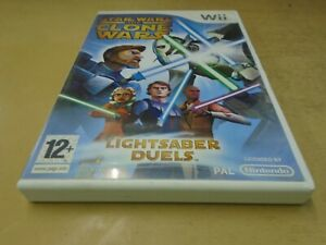 Star Wars The Clone Wars: Lightsaber Duels (Wii)- Complete with manual