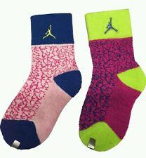 NWT Nike AIR JORDAN Jumpman kids' Retro Elephant Print 2 PACK crew socks, 3Y-5Y