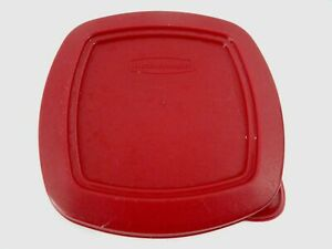 """Rubbermaid replacementLid Cover Red  6"""" square 401D A"""