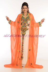 DUBAI ETHNIC MODERN ARABIC BRIDAL MOROCCAN KAFTAN WEAR BY ZAMZAMFASHION 523