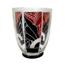 Art Deco Vase mit bunt lasierten Feldern, Karl Palda in Haida um 1930