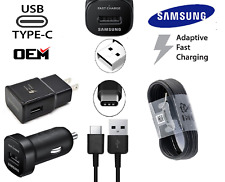 OEM New Samsung Fast Car Wall Charger Type-C Cable For Galaxy Note8 S8 S9 Plus