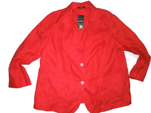 RALPH LAUREN polo Deco Coral Linen JACKET Blazer  20W 20 W  retail $208