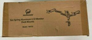 Gas Spring Aluminum LCD Monitor Desk Mounts