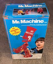 IDEAL  MR. MACHINE  WIND UP ROBOT  BOXED  1977  1987  WORKS