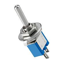 Kippschalter - EIN AUS - 2 Pins - Metallhebel - Subminiatur - mit Lötösen - blau