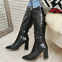Stivali donna scarpe coccodrillo tacchi alti stivaletti a punta TOOCOOL Z1141