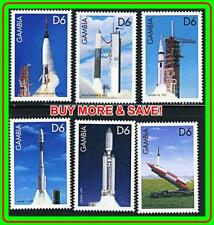 GAMBIA = USA SPACE ROCKETS  MNH