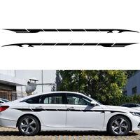 2X 350cm Auto Seitenaufkleber Streifen Zierstreifen Aufkleber Dekor DIY Schwarz