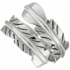 Sterling Silver Navajo Indian Feather Wrap Ring