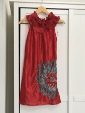 AX Paris dress red prom evening party floral dress gown festive glam