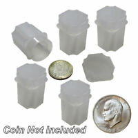 Large Dollar Square Coin Tubes by Guardhouse, 38mm, 5 pack