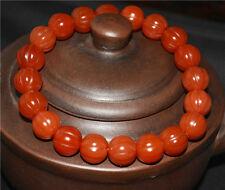 agate bracelet red old melon prayer beads mala pema raka antique tibetan nanhong