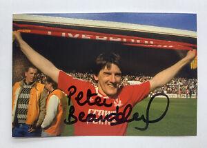 RARE Peter Beardsley Liverpool Signed Photo + COA AUTOGRAPH