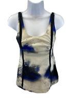 Lululemon Women's Milky Way Blue/Black Wholehearted Tank Top Sz 6/S
