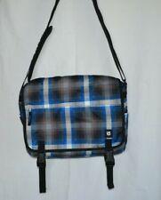 Burton Snowboard Blue Plaid  Messenger Bag  Excellent Condition Free US Shipping