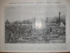 Photo Serbian troop sleep before a night battle 1913
