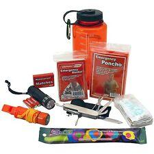 EMERGENCY SURVIVAL BOTTLE KIT-FLASHLIGHT, MATCHES, KNIFE, COMPASS, BLANKET, MORE
