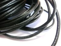 32.8 feet Black Round Real Genuine Leather Jewelry Cord String 3mm