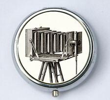 Vintage Camera pillbox PILL CASE BOX holder retro Large Format photographer