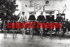 "OREGON CORVALLIS 7 Hi-Wheel ""BONESHAKER"" Bicycle riding group Portrait REPRO"