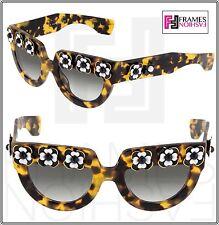 PRADA POEME FLOWER Chunky PR26PS Brown Havana Exclusive Limited Sunglasses 26P