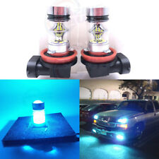 NEW 2x H8 H9 H11 H16 8000K Ice Blue 100W CREE LED Headlight Bulbs Kit Fog Light