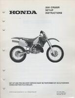 2001 HONDA MOTORCYCLE  CR500R  SET-UP INSTRUCTIONS MANUAL (963)