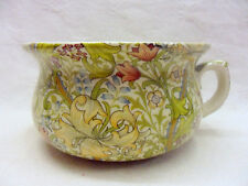 Heron Cross Pottery William Morris golden lilly design small chamber pot planter