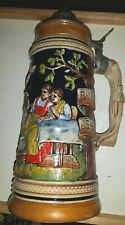 West Germany DBGM  Pewter Lidded Beer Stein