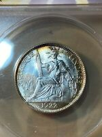 1922-A French Indo-China 20 Cents Graded MS 65 by ANACS!!