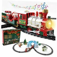 Toy Train Set for Christmas, Electric Train Set with Lights, Music and 15