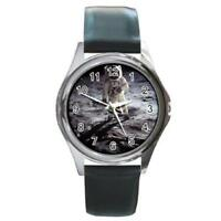 NASA Buzz Aldrin Apollo 11 Moon Walk Round Metal Watch NEW! WW53