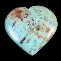 90 Cts Natural Chrysocolla Stunning Huge 44mm/41.75mm Heart Cabochon Gemstone