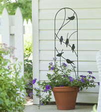 Metal Wall Trellis - Bird Design - Outdoor Garden Climbing Plant Support Panel