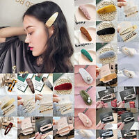 Women Crystal Pearl Plush Barrette Hair Clip Stick Hairpin Hair Accessories Gift