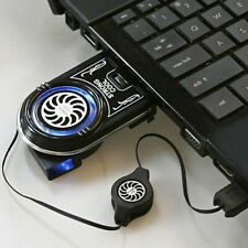 EE_ FT- Vacuum LED USB Cooler Air Extracting Cooling Pad Fan for Notebook Laptop