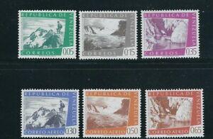 VENEZUELA 1960 CARONI FALLS, BOLIVAR PEAK etc (Sc 782-84, C753-55) VF MNH