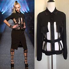 Rare Jean Paul Gaultier 2013 Vtg Black Cage Jacket