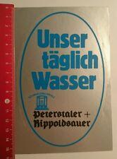 Aufkleber/Sticker: Peterstaler Rippoldsauer Schwarzwaldperle (060816194)