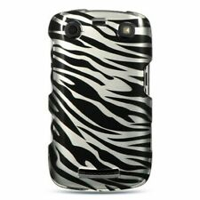 Rubberized Hard Snap-in Case Cover For BlackBerry Curve 9360, Silver/Black