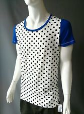 Emily Sharp Mens. T-shirt. Black and white spots. Hand made. X Large