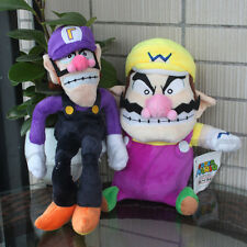 2X Super Mario Brother Character 9'' Wario And 10'' Waluigi Plush Cartoon Toy