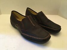 Womens Naturalizer Franca Dark Brown Leather Loafers Shoes Size 8 1/2 W