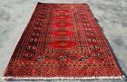 Hand knotted Vintage Pakistan Bokhara Jhaldar Wool Area Rug 3.11 x 2.5 Ft