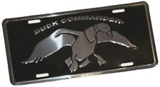 Duck Commander License Tag, Black and Silver, New