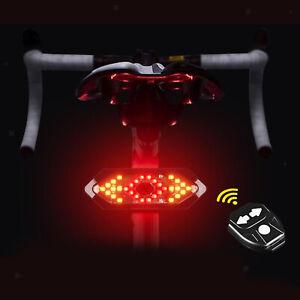 Universal Waterproof Bike LED Turn Signals Lights Indicator Lamp Blinker