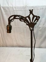 Antique Ornate Cast Iron Floor Lamp Light  56in Tall pull cord Switch good Cord